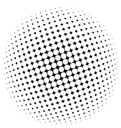 halftone: halftone dots - vector