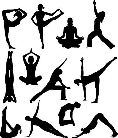yoga poses collection - vector Stock Vector - 5022320