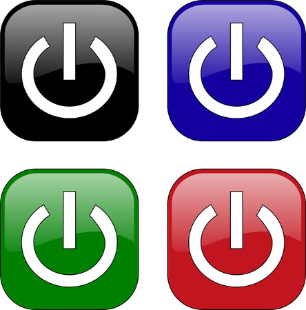 energy buttons: power button - vector Illustration