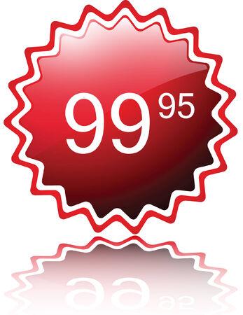 price sticker - vector Stock Vector - 5050422