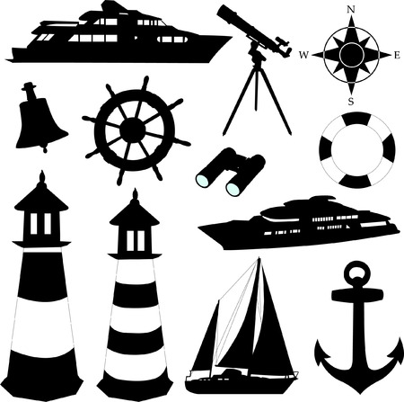 anchors: sailing equipments - vector Illustration