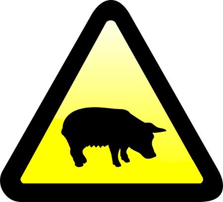 warning sign - vector Vector