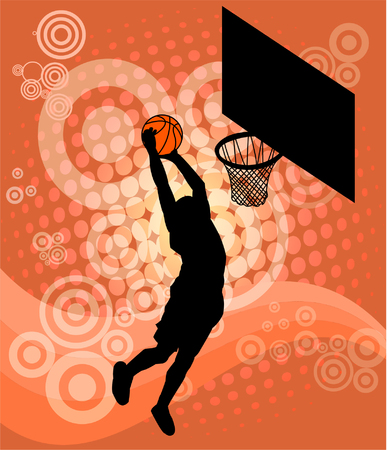 basketball player - vector   Illustration