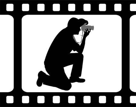sharpness: photographer -vector Illustration