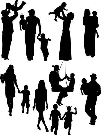 parents with children - vector     Vector