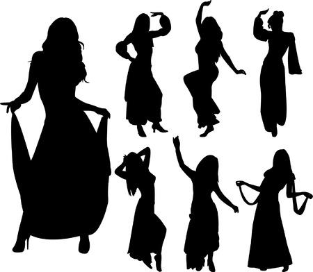 belly dance - vector
