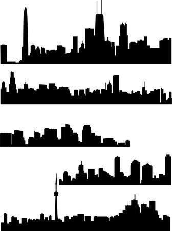 panorama cities - vector