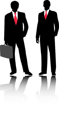 briefcase: businessmen - vector