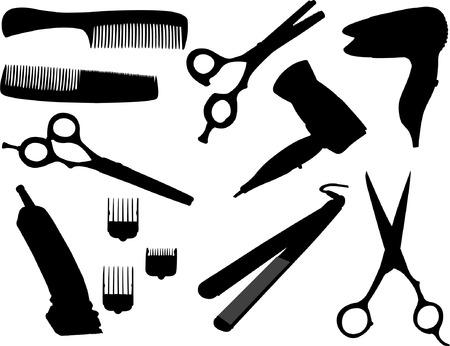 hairdresser equipment - vector Vector