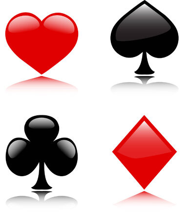 card suits - vector Stock Vector - 5089783