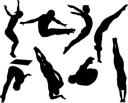 free style diving collection - vector