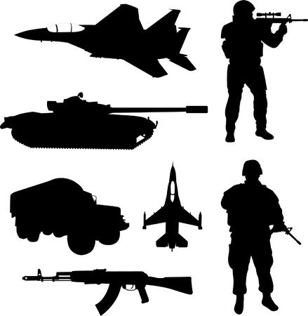silhouette soldat: Arm�e - vecteur