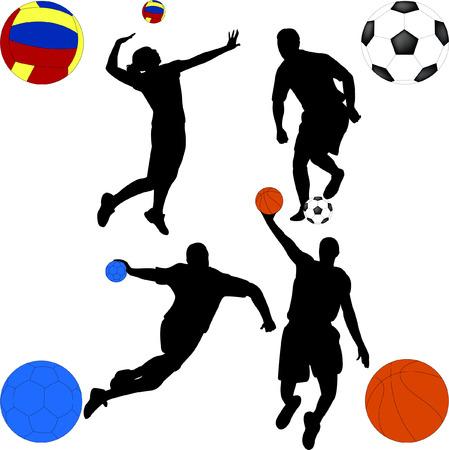 pallamano: mix di sport - vector