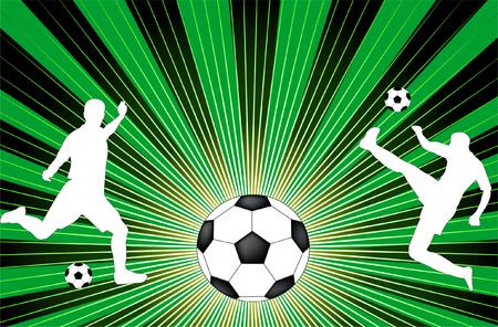 soccer background - vector Vector