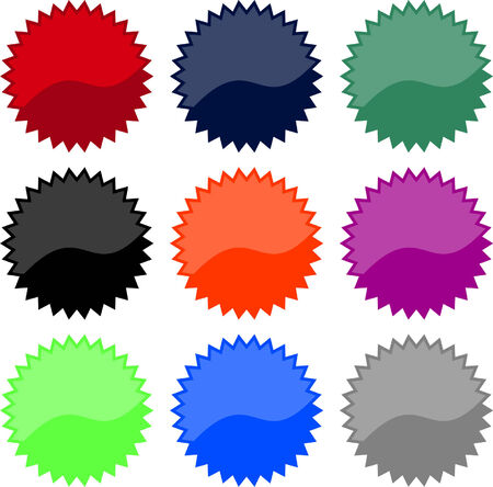 colorful shiny badges (blank) - vector Stock Vector - 5185377