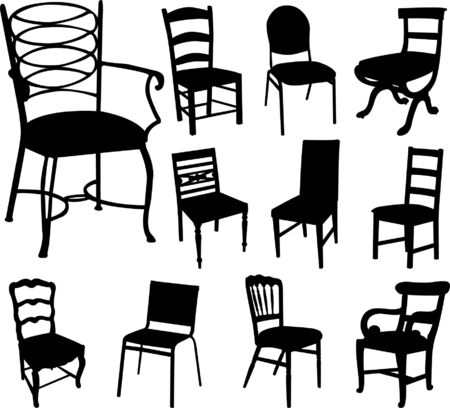 chairs collection - vector Stock Vector - 5185382