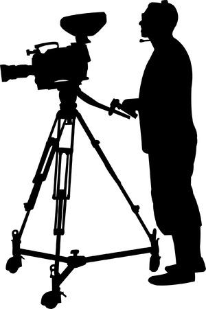 cameraman silhouette - vector Vector