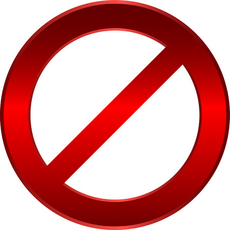 forbidden sign - vector Stock Vector - 5258427