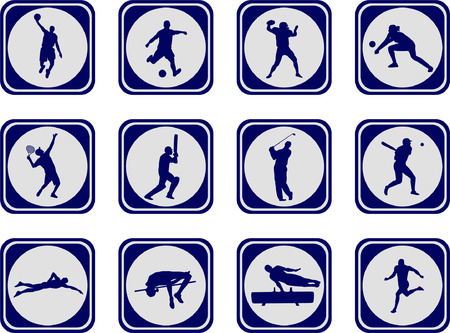 Sport Icons Sammlung - vector Standard-Bild - 5373308