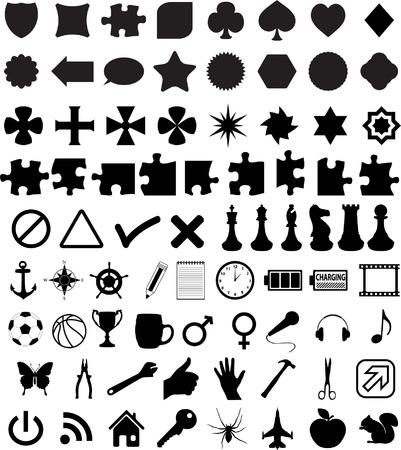 Reihe von verschiedenen Formen und Symbole - vector Standard-Bild - 5432093
