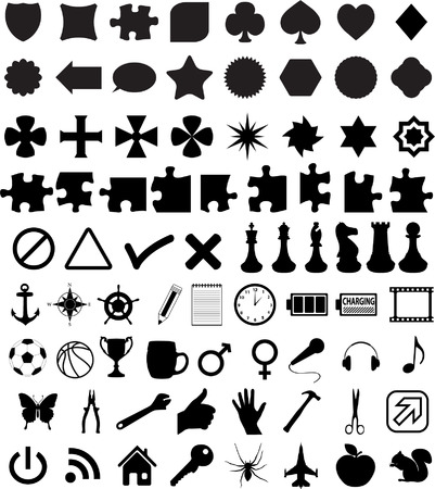 set of various shapes and symbols - vector Vector