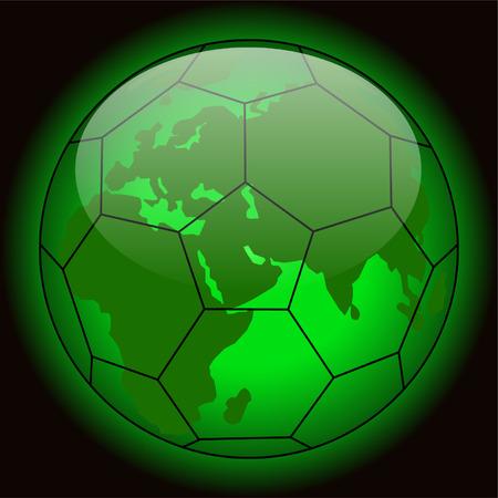 soccer planet - vector Stock Vector - 5452317