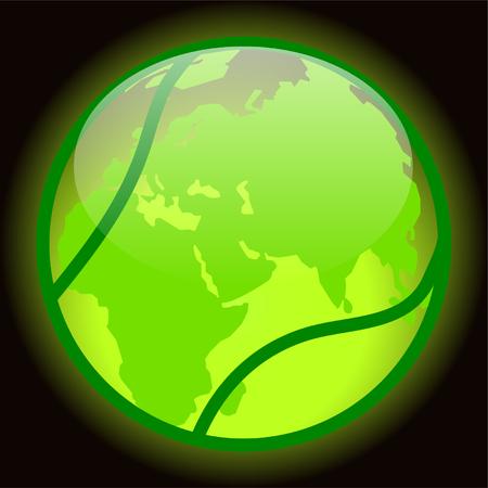 tennis planet - vector Vector