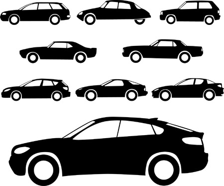 cars collection - vector Illustration