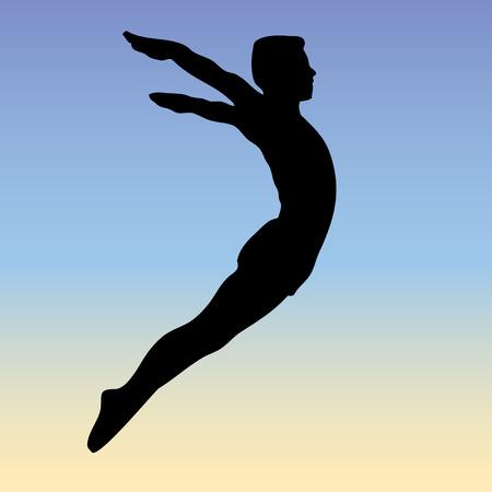free style jump - vector Vector
