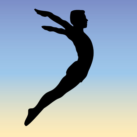 free style jump - vector