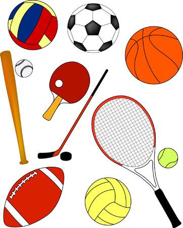 sport equipment - vector Stock Illustratie