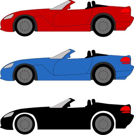 sports cars: sports cars - vector Illustration