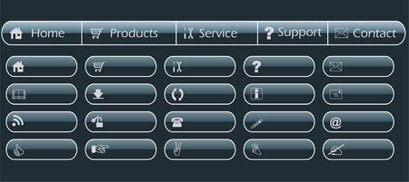 web navigation, menu and buttons template - vector Vector