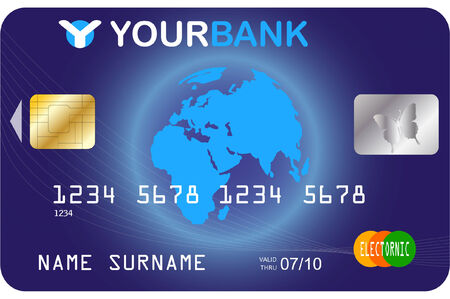credit card template - vector Stock Vector - 5531142
