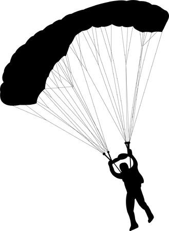 deslizamiento: paracaidista - vector