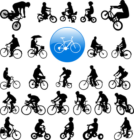 bicyclists - vector Vector