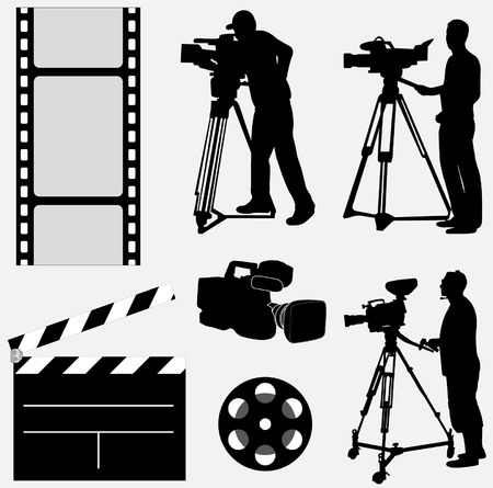 camera collection - vector Stock Illustratie