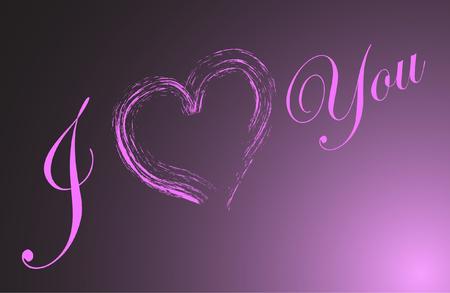 quot: &quot,I love you&quot, Illustration