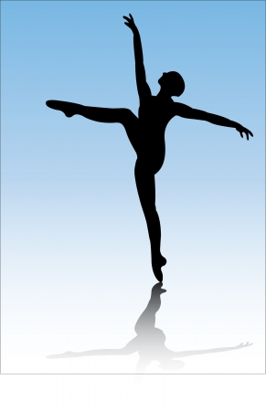classical dancer: ballerina - vector