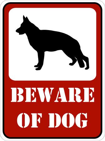beware of the dog: beware of dog sign - vector Illustration