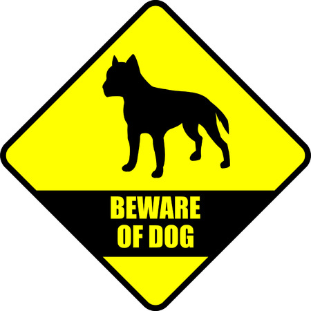 sheepdog: beware of dog 2 - vector Illustration