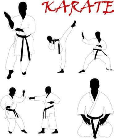 martial: karate collection - vector