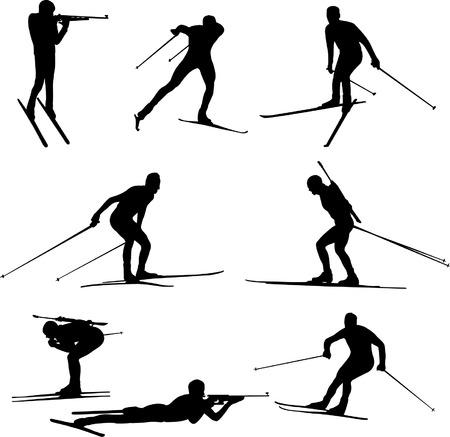 biathlon - vector Vector