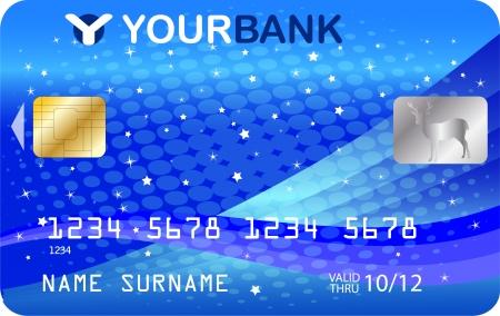 credit card template - vector Vector