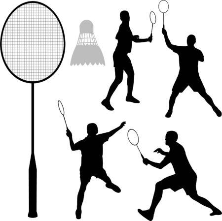 Badminton - Vektor  Standard-Bild - 6206864