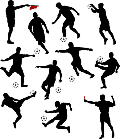 soccer players collection Stock Vector - 6243572