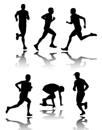 personas corriendo: personas de ejecuci�n -  Vectores