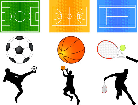 sport mix Stock Illustratie