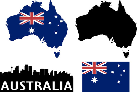 australian: australia  Illustration