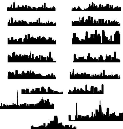 メトロポリス: 都市のスカイライン コレクション  イラスト・ベクター素材